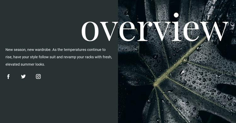 Design overview WordPress Theme