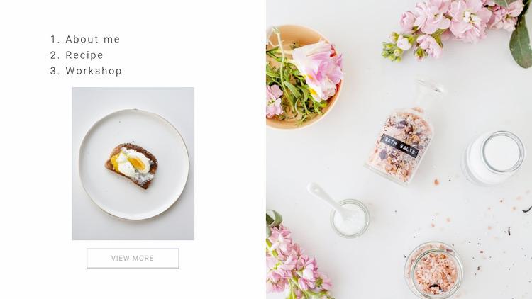Gourmet cooking WordPress Website Builder