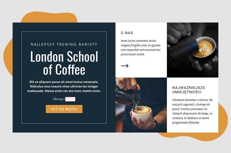 Londyńska szkoła kawy Szablon Joomla