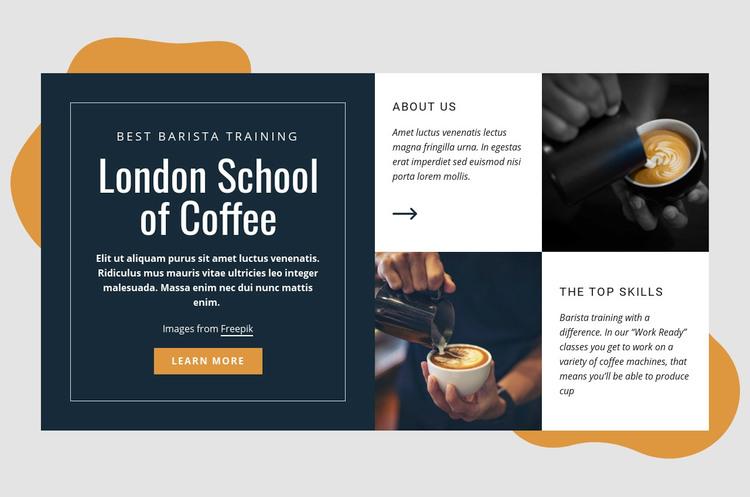 London school of coffee WordPress Website