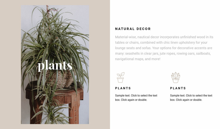 Plants and natural details Html Website Builder