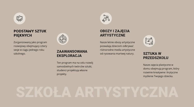 Edukacja w szkole artystycznej Szablon witryny sieci Web