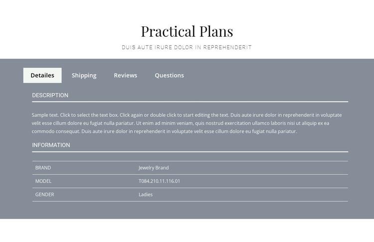Practical plans Web Design
