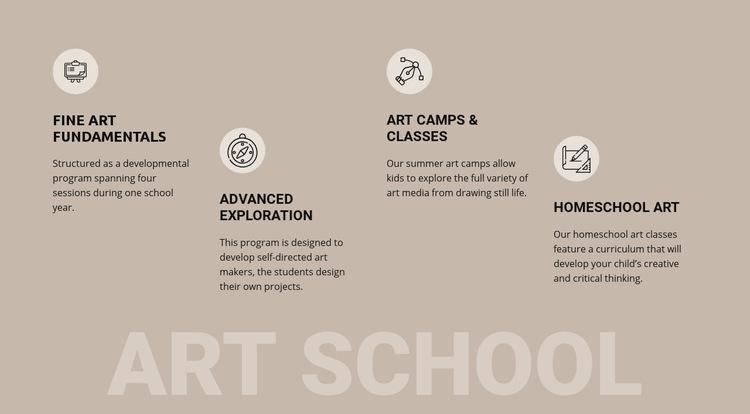 Art school education Web Page Design