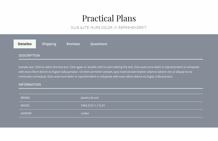 Practical plans Web Page Designer