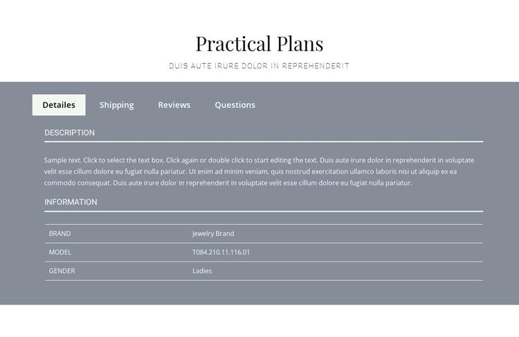 Practical plans Website Builder Software
