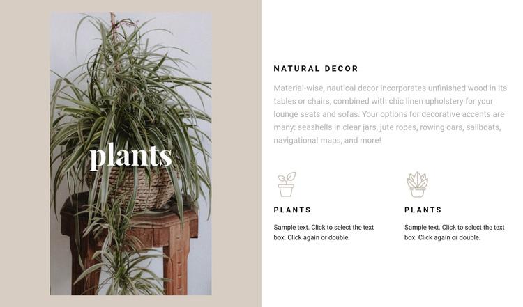Plants and natural details Website Builder Software