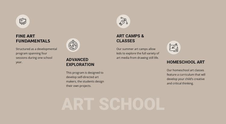 Art school education Website Mockup