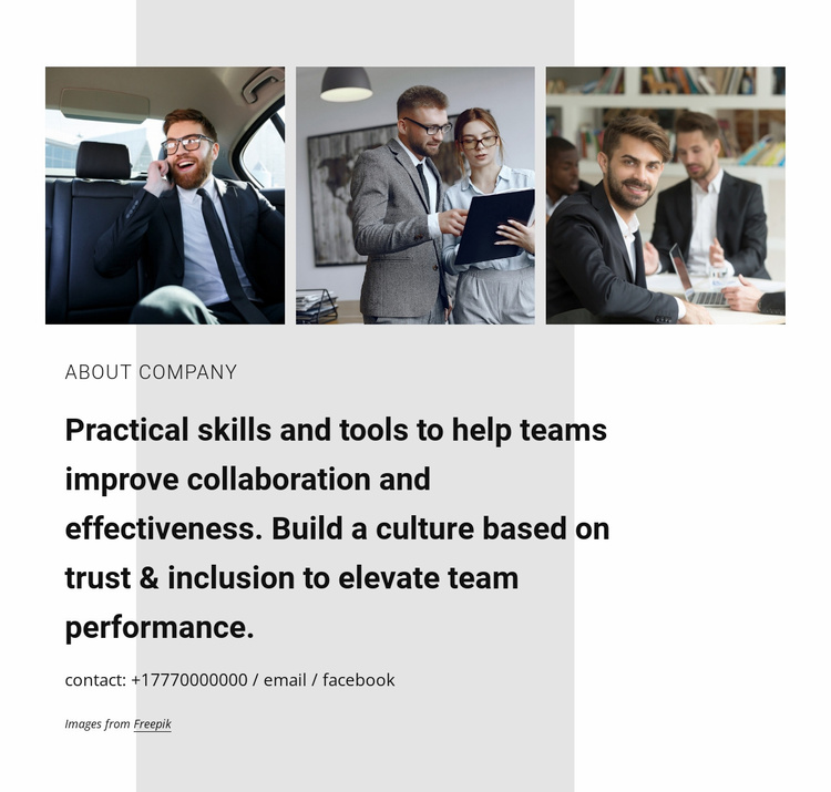 Collaboration for business Website Template