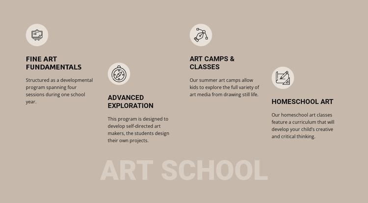 Art school education Website Template