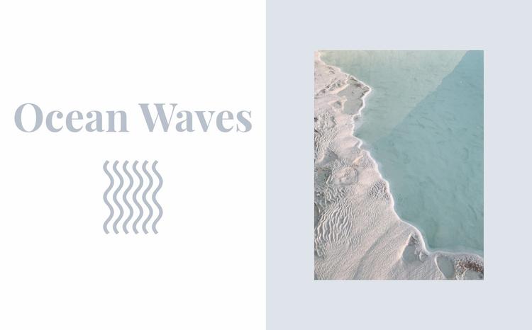Keep ocean waves Website Template