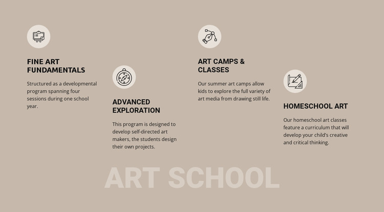 Art school education WordPress Website Builder