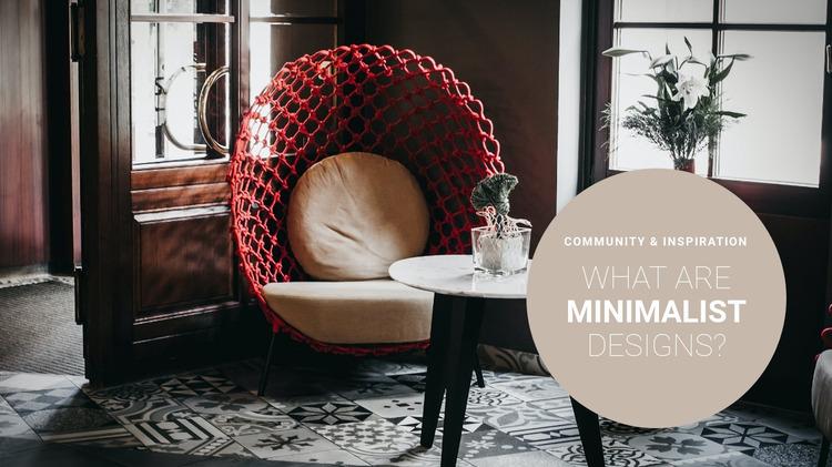 Minimalist interior style Website Mockup