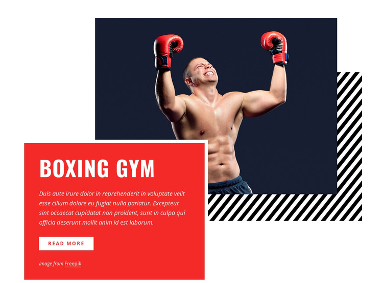 Boxing gym HTML Template