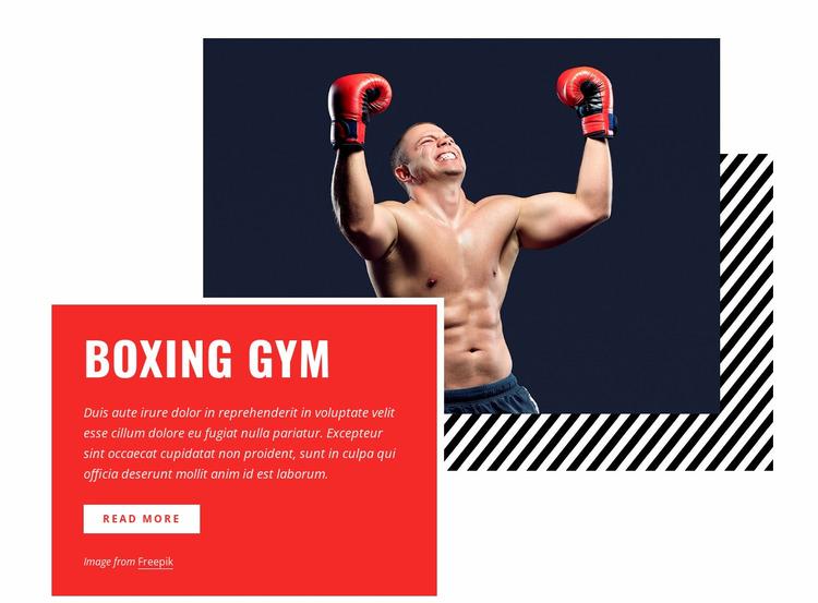 Boxing gym Html Website Builder
