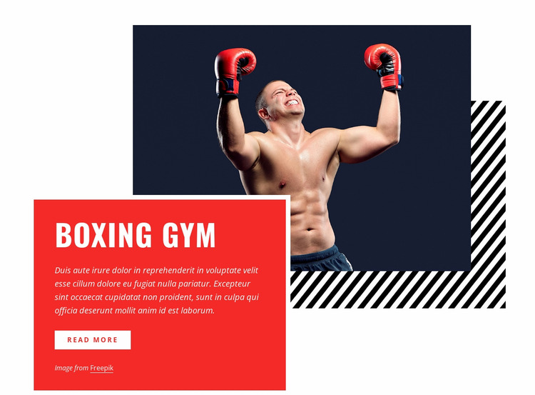 Boxing gym WordPress Website Builder
