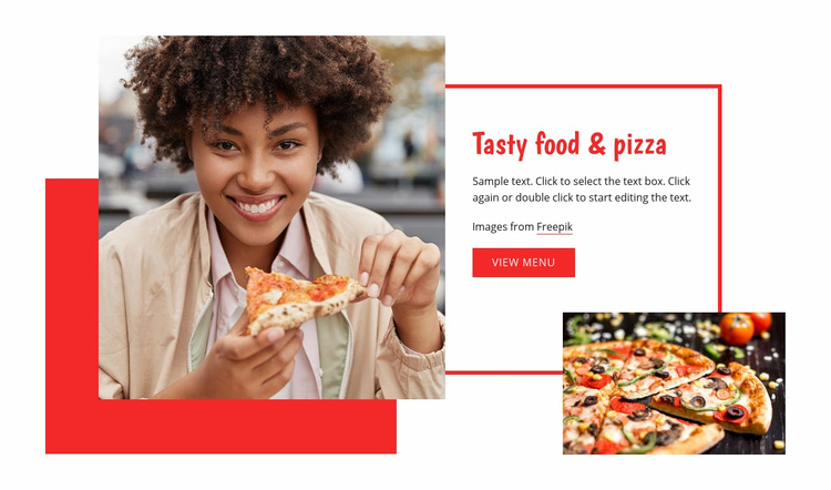 Tasty pasta and pizza Web Page Designer