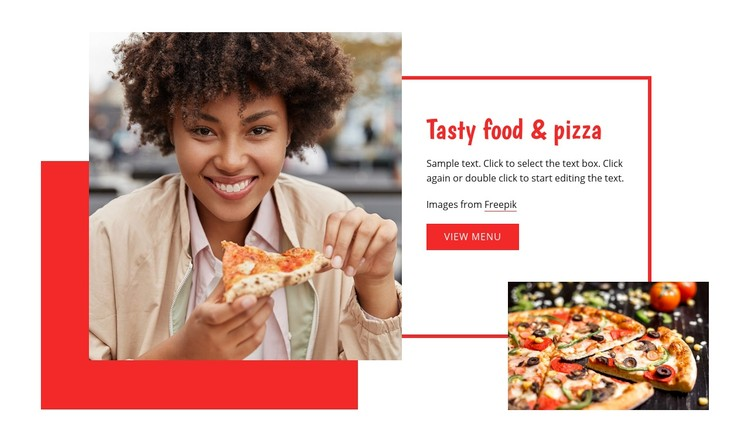 Tasty pasta and pizza Website Creator