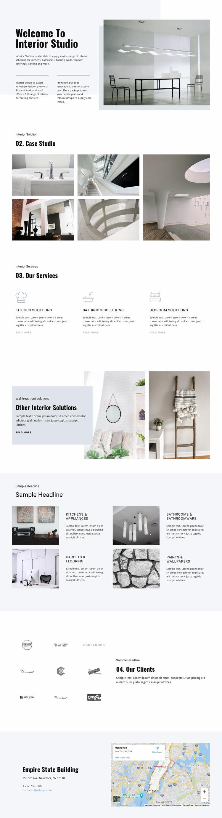 Welcome to interior studio Website Design