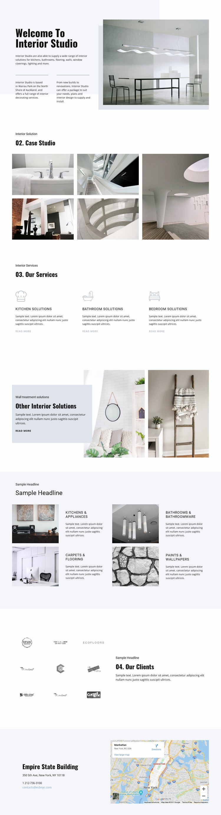 Welcome to interior studio Landing Page