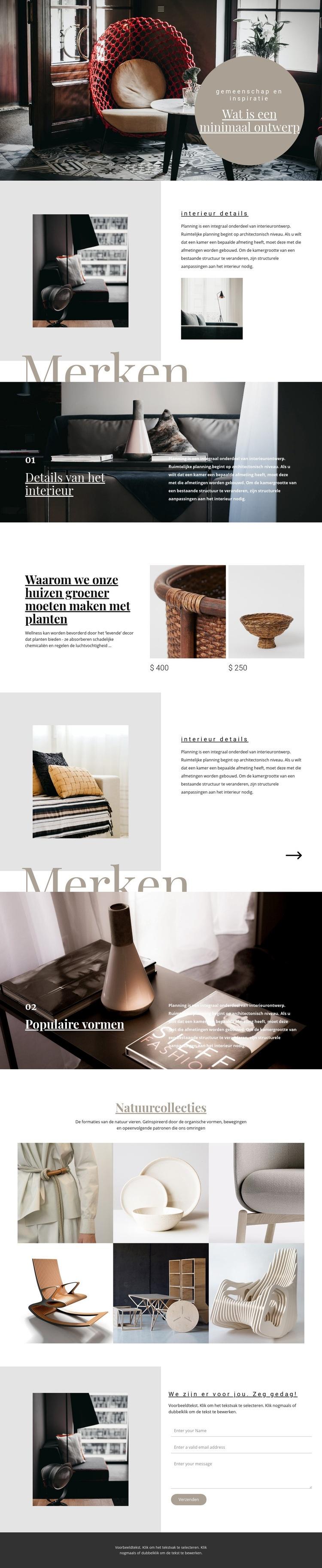 Interieur merken Website sjabloon