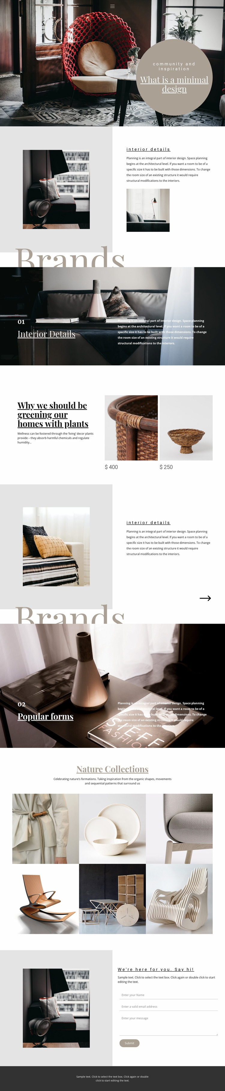 Interior brands Website Mockup