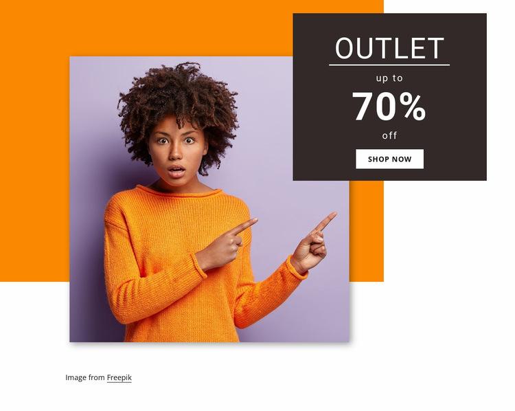 Women outlet collection Website Builder Templates