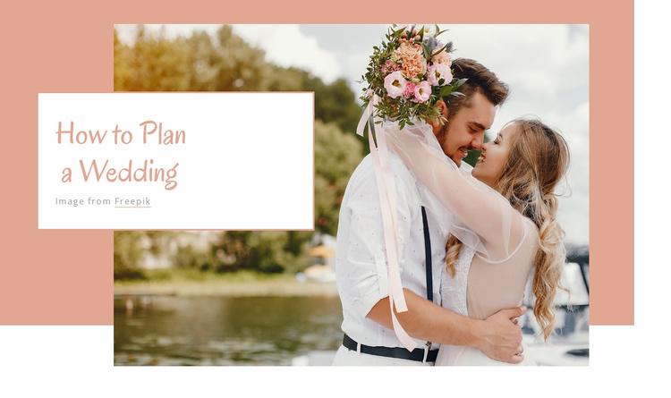 Wedding party Website Template