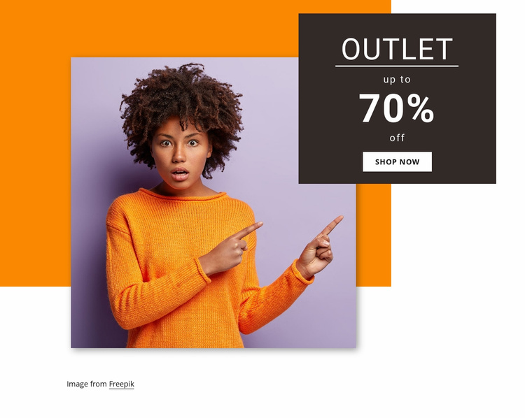 Women outlet collection Website Template