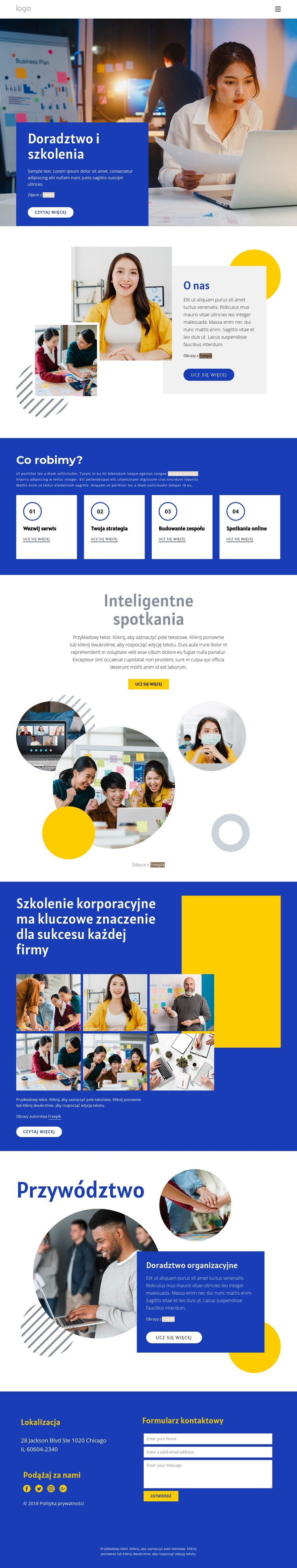 Doradztwo i szkolenia Szablon witryny sieci Web