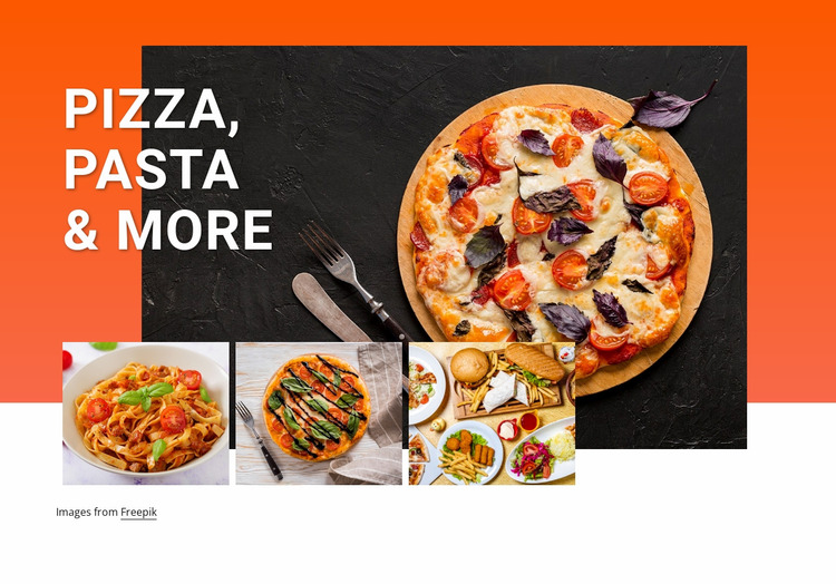 Pizza and pasta Website Mockup