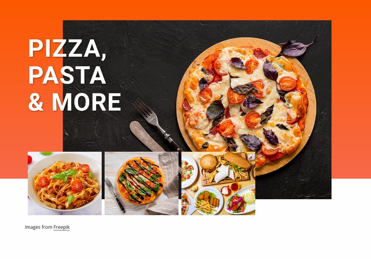 Pizza and pasta Website Template