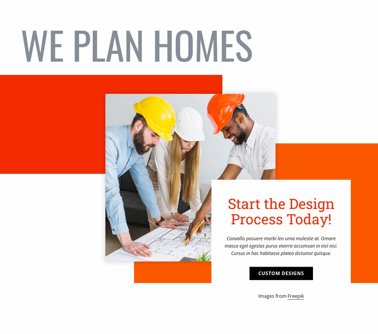 We plan homes WordPress Website Builder