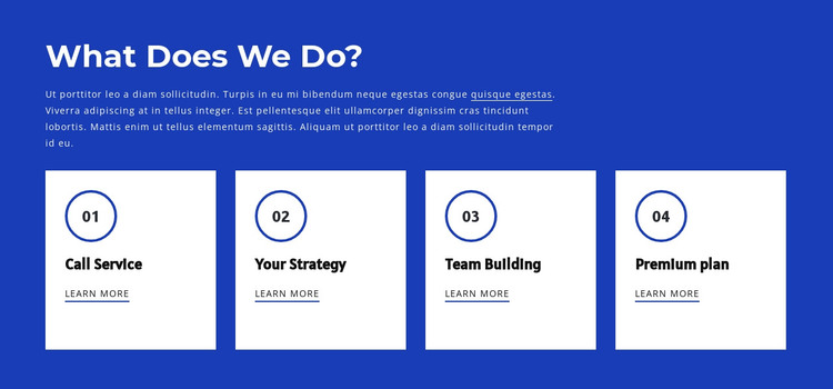 Teamwork and team building HTML Template