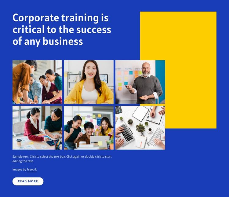 Corporate trainings Html Website Builder