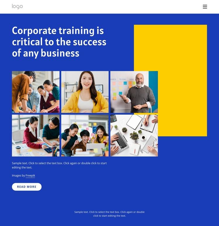 Corporate trainings Website Maker