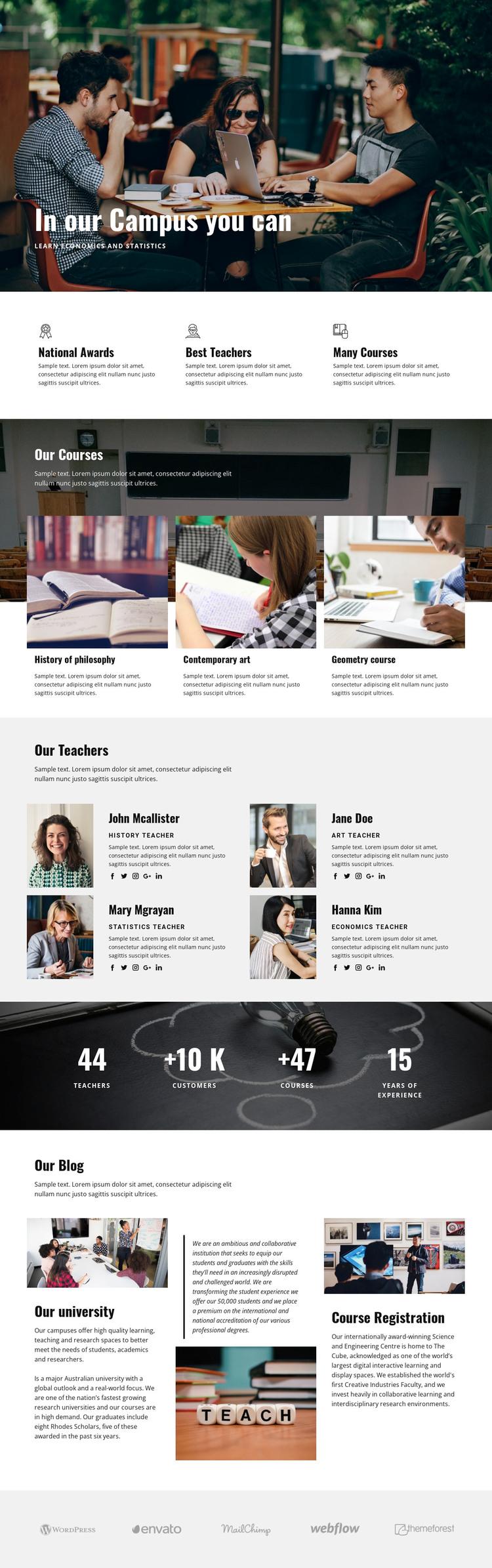 Personal campus education  WordPress Theme