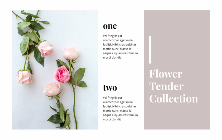 Tender collection with flowers Website Template