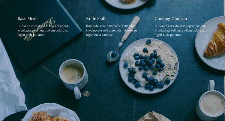 Our restaurant menu HTML Template