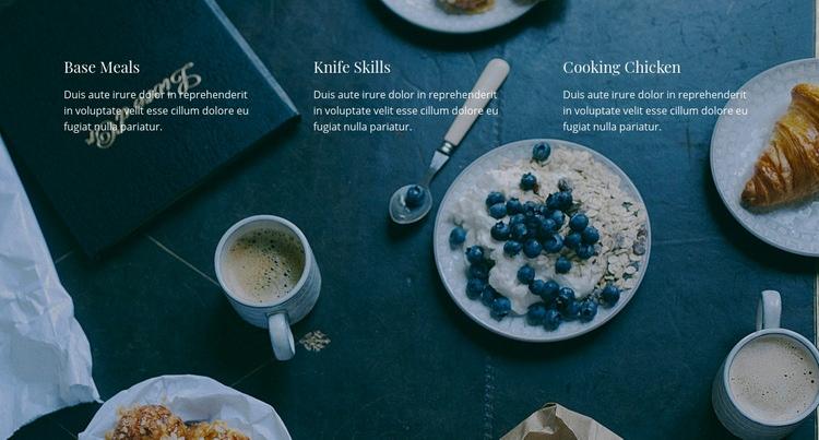 Our restaurant menu Web Page Design