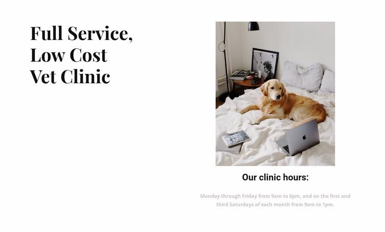 Full service vet clinic Website Template