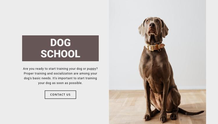 Dog professional school Website Template