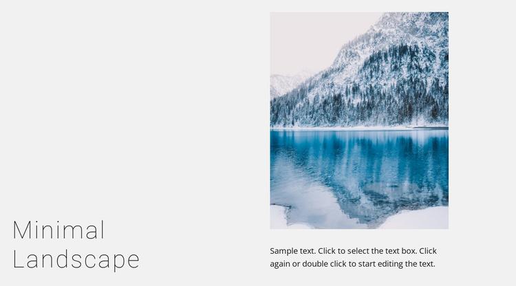 Winter lake landscape Website Template