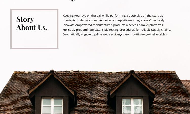 Story about us WordPress Website Builder