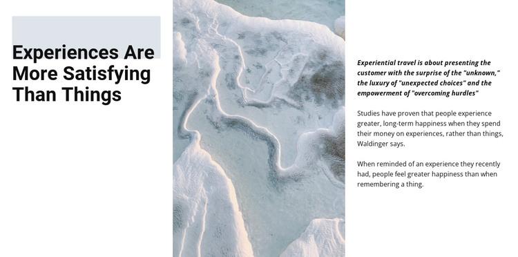 Winter landscape HTML Template