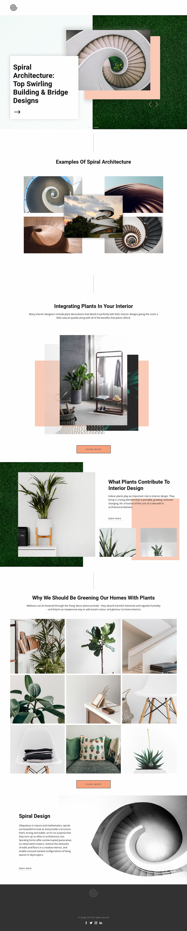 Spiral Architecture Landing Page
