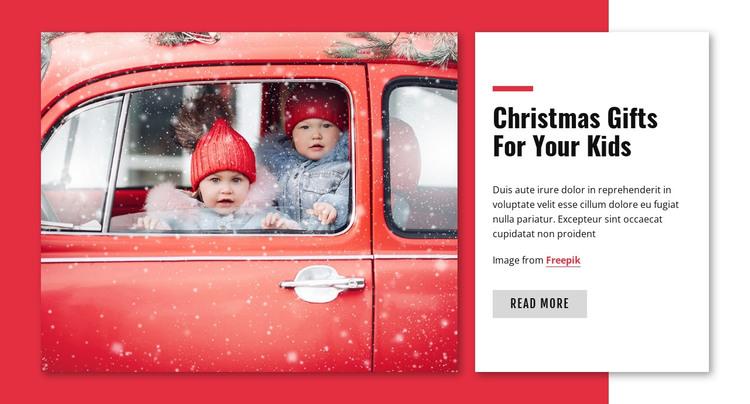 Christmas gift for kids HTML Template
