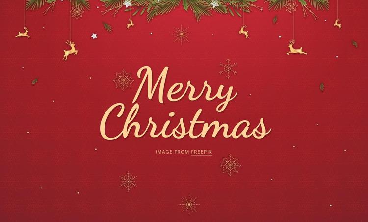 Merry Christmas Html Website Builder