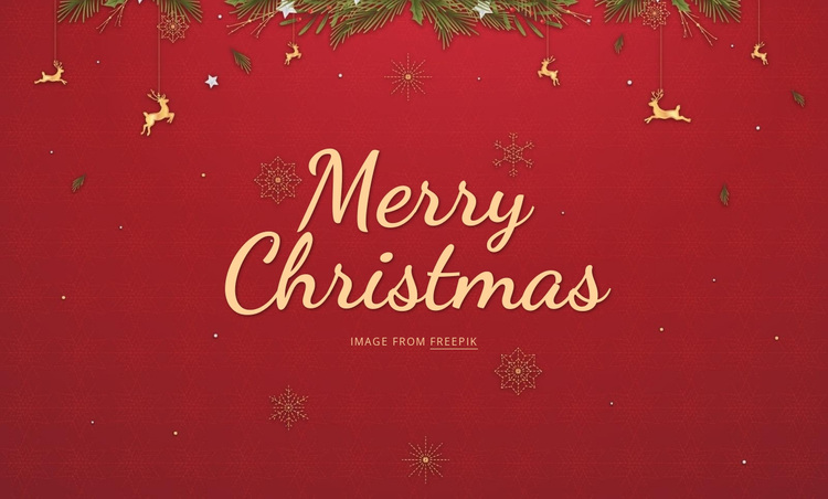 Merry Christmas Joomla Page Builder