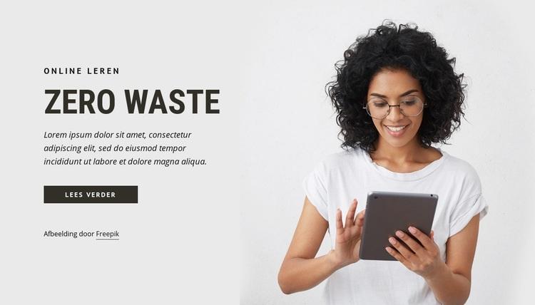 Zero waste Website sjabloon